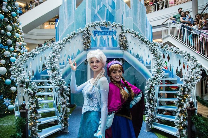 Anna e Elsa se encontram com o público no Shopping Tijuca
