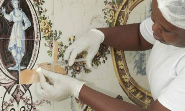 Museu do Açude recupera estrutura do painel de azulejos