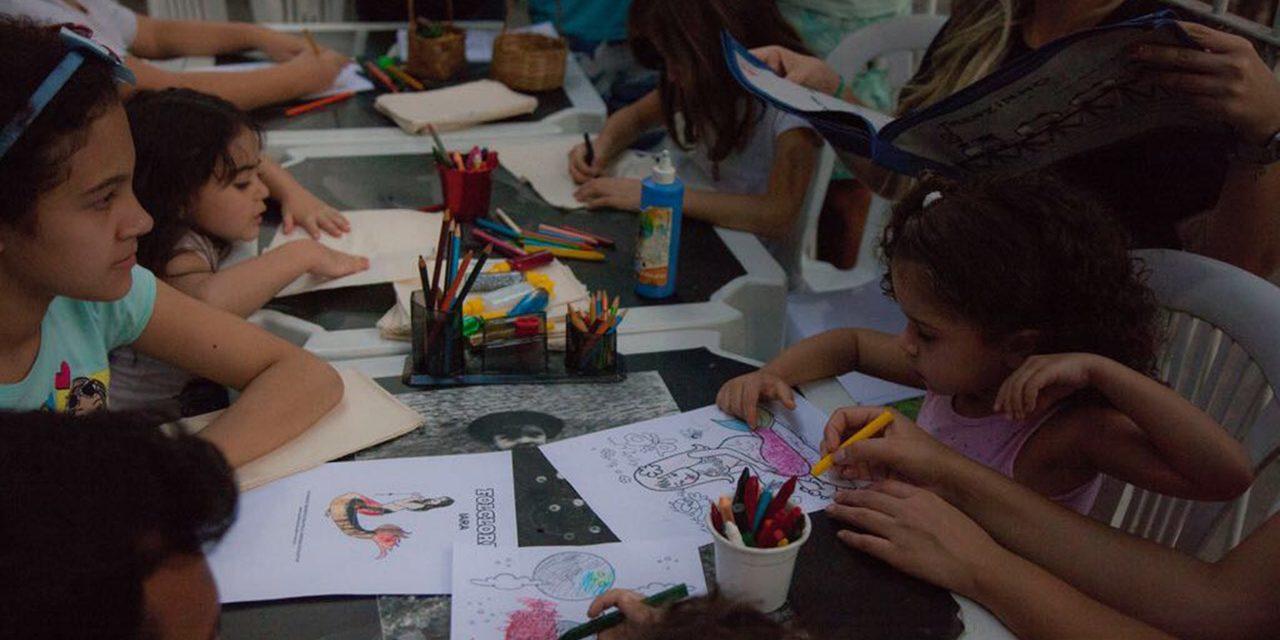 Oficina cultural criativa para crianças na Tijuca