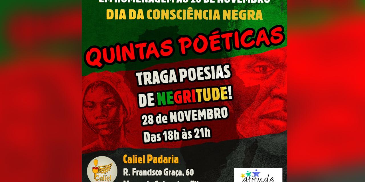 Sarau de poesias no morro do Salgueiro faz homenagem à negritude no mês da consciência negra
