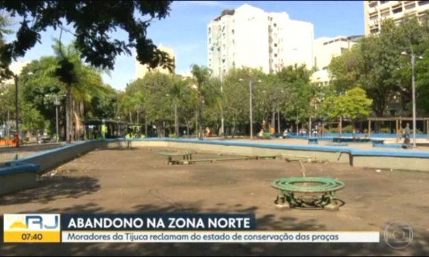 Praças da Tijuca: moradores relatam problemas e o sentimento é de abandono