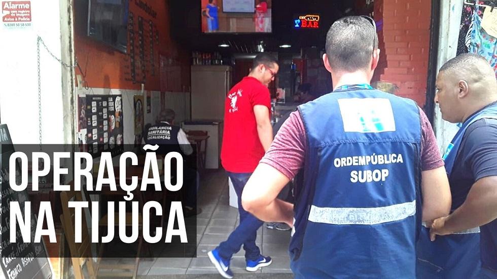 Seop realiza ação especial de ordenamento na Tijuca nesta segunda, 9