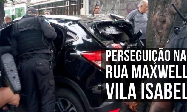 Perseguição em Vila Isabel acaba com 1 morto 3 suspeitos presos